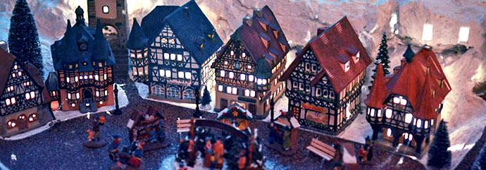 Makieta alpejskiego miasteczka